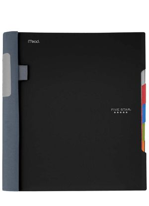 "five star advance spiral notebook 5 subject college ruled paper 200 sheets, 11X8.5"" black for Sale in El Monte, CA"