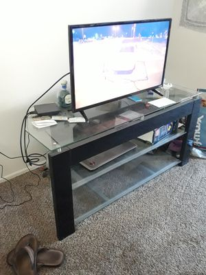 Glass tv stand for Sale in Portland, OR