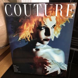 Couture November 1960 Magazine Cover Lacquered Art Print for Sale in Chicago, IL