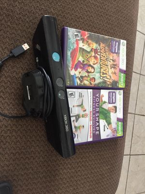 Xbox 360 Kinect With 2 Games for Sale in Orlando, FL