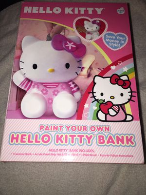Hello Kitty Paint Your Own Bank Sanrio New for Sale in Honolulu, HI