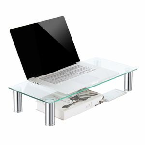 clear computer monitor stand/monitor riser 23.6 x 10.2 inch for Sale in Ontario, CA