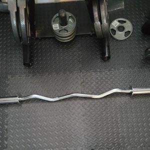 Olympic Weights Curl Bar for Sale in San Bernardino, CA