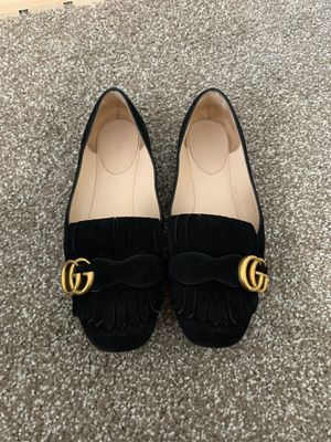 Gucci GG Marmont Suede Fringe Loafer size 7 1/2 for Sale in Renton, WA