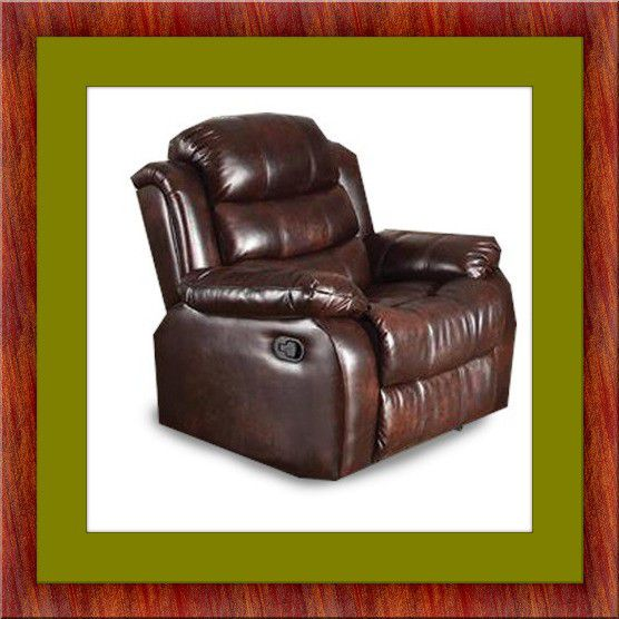 Burgundy recliner chair free delivery