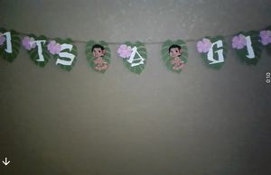 Baby Moana Its a girl Banner for Sale in Antioch, CA