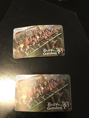 Busch gardens single day pass and meal tickets. for Sale in Suffolk, VA