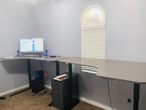 IKEA Bekant Corner Desk and Right Left Electric Up/Down for Sale in Las Vegas, NV