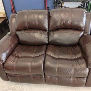 Brown Leather Sofa & Love Seat Recliners for Sale in Pompano Beach, FL