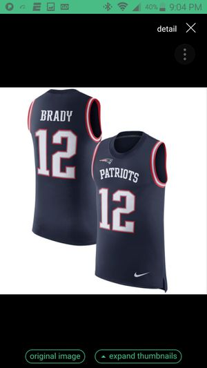 PATRIOTS BRADY JERSEY SIZE LRG n 2XL 100% STITCHED for Sale in Grand Terrace, CA