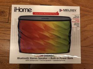 iHome iBT84 Splashproof Color Changing Portable Bluetooth Stereo/Speaker with USB Power Bank for Sale in Alexandria, VA