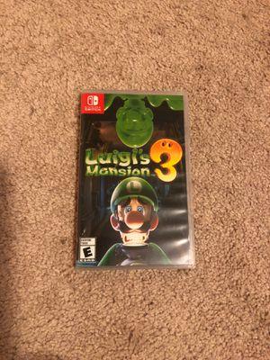 Nintendo switch game Luigis mansion 3 for Sale in San Ramon, CA