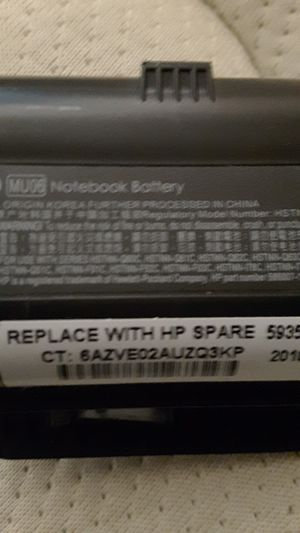 Hp MU06 notebook battery for Sale in North Las Vegas, NV