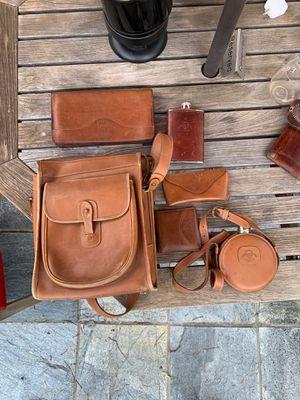 Ghurka Leather Collection - Bag, wallets, flasks, glasses case, large travel wallet. for Sale in Fullerton, CA