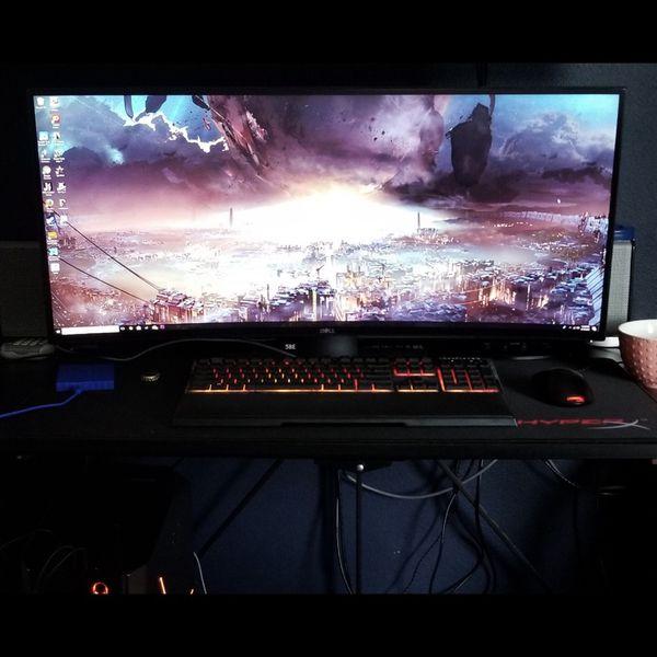 Alienware And Dell Monitor