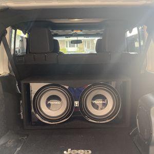 212 inch subwoofers, 1500 Watt Amp for Sale in Sandy, UT
