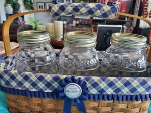 Longaberger blue ribbon set retired for Sale in Riverside, CA