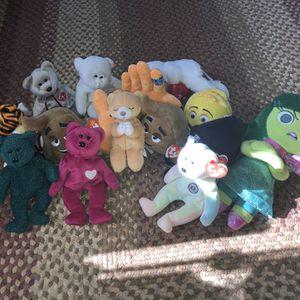 TY beanie babies, disney's inside out, emoji movie plush. for Sale in Waycross, GA