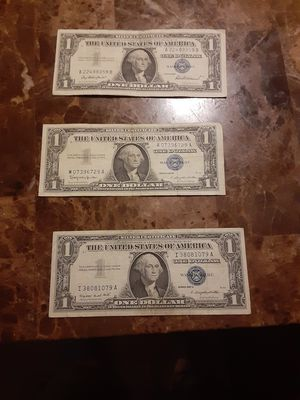 3 . Silver certificate 1957 for Sale in San Leandro, CA