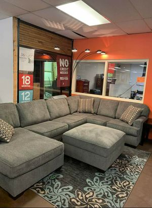 💲39 Down Payment 🍃Best Deal Loric Smoke RAF Sectional for Sale in Laurel, MD