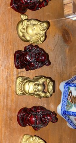Mini Resin Buddha Figurines (7) for Sale in Queens,  NY