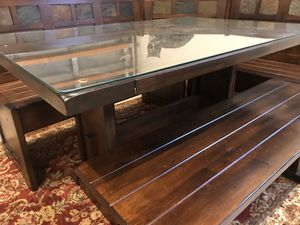 Corner/Nook Wood Table and Bench Set for Sale in Miramar, FL