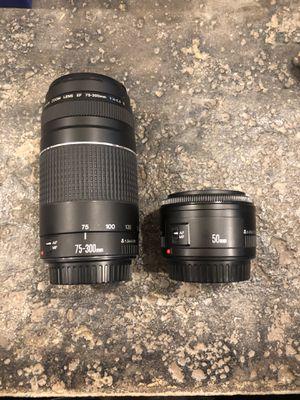 Canon EF Lens Set for Sale in El Cajon, CA