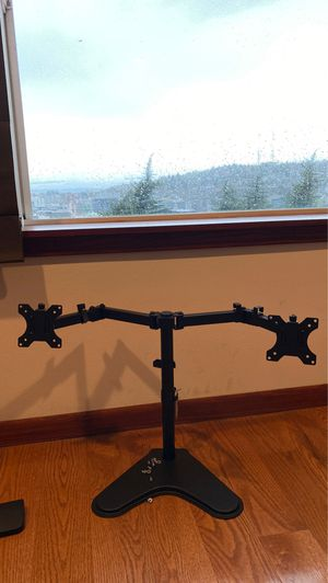 ADJUSTABLE DUAL MONITOR STAND for Sale in Seattle, WA