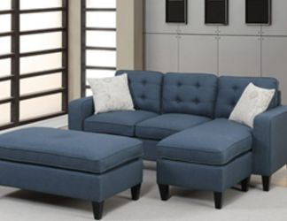 Sectional Sofa With Ottoman Can Be Used As Sleeper 81x61 Size for Sale in Fort Lauderdale,  FL