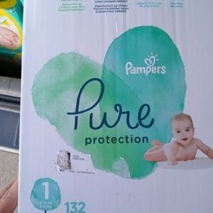 Pampers Pure Size 1 132 Diapers for Sale in Los Angeles, CA