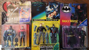 Batman Bruce Wayne Rare collection from Batman Returns, Batman Forever & Batman The Animated Series action figures for Sale in San Antonio, TX