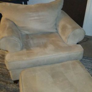 Microfiber comfortable chair ottoman for Sale in Golden, CO