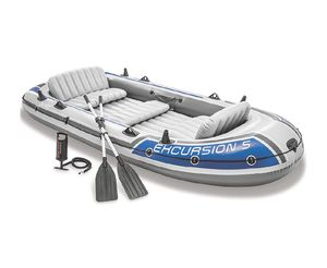 Intex Excursion 5 Inflatable boat 5 person for Sale in Las Vegas, NV