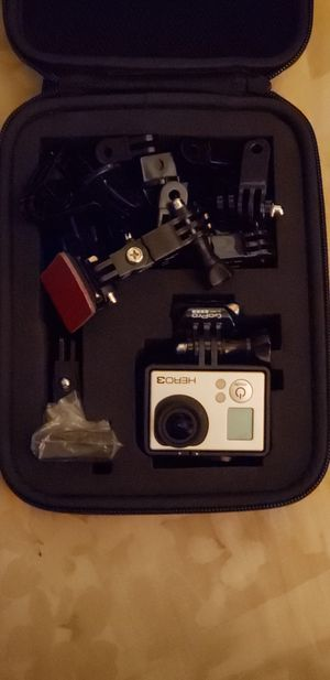 Go pro hero 3 black in padded case with gear for Sale in San Diego, CA