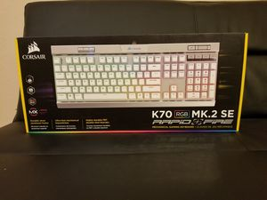 CORSAIR - Gaming K70 RGB MK.2 SE Mechanical Wired CHERRY MX Speed Switch Keyboard with RGB Back Lighting - Silver Anodized Brushed Aluminum for Sale in Plano, TX