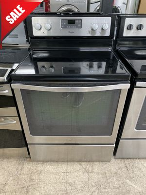 🌟🌟Stainless Steel Electric Stove Oven Whirlpool Glass Top #1020🌟🌟 for Sale in Orlando, FL