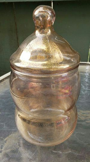 Vintage Glass Gold Dust Bubble Apothecary Jar for Sale in Beaumont, CA