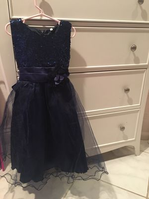 Navy blue dress size 6/7 girls for Sale in La Mesa, CA