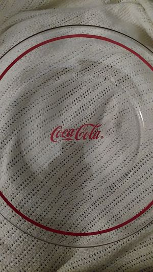 5 Coca-cola 10inch glass plates for Sale in North Little Rock, AR