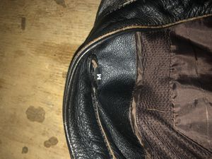 Medium real leather motorcycle jacket for Sale in Malden, MA