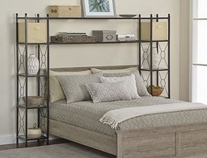 Queen Size Bed Surround Shelving **Brand New** I Deliver for Sale in Bedford Heights, OH