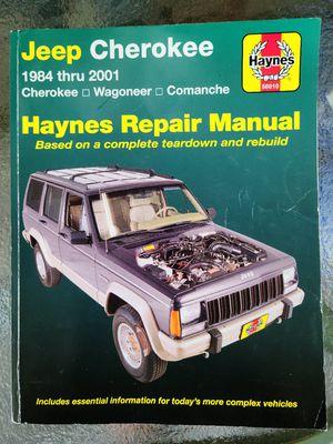 Haynes repair manual jeep Cherokee 1984-2001 Wagoneer, Comanche for Sale in Bluff City, TN