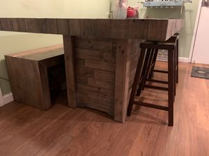 Wooden dining table, bench, and stools for Sale in Oakland, CA