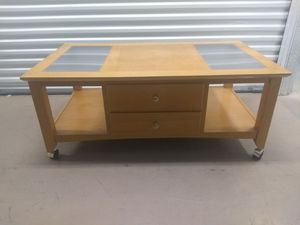 WOOD COFFEE -CENTER TABLE with Drawers- SALE!!! for Sale in Miramar, FL