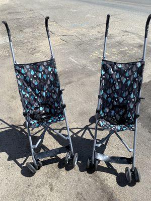 2 heavy duty metal Cosco brand child's umbrella strollers $18 each for Sale in Fresno, CA