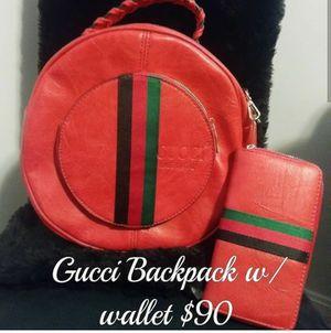 Gucci Backpak w matching wallet for Sale in Glenarden, MD