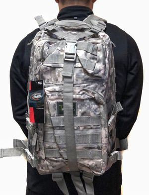 Brand NEW! Grey Digital Tactical Molle Backpack For Work/Traveling/Fishing/Camping/Hiking/Sports/Gym/Outdoors/Biking/Gifts $25 for Sale in West Carson, CA