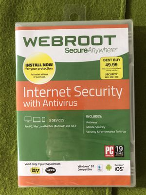 Webroot SecureAnywhere for Sale in San Jose, CA