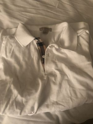 Men's white Burberry shirt for Sale in Pittsburgh, PA