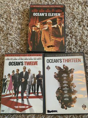 Ocean's eleven, twelve and thirteen on dvd for Sale in Hanford, CA
